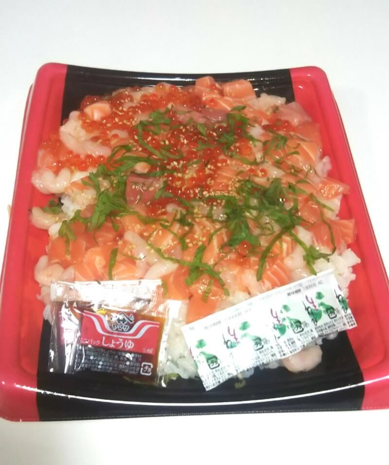 コストコの海鮮つけちらし寿司全体写真