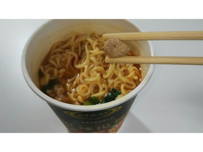RIZAPカップ麺、麻辣湯麺 肉ミンチ